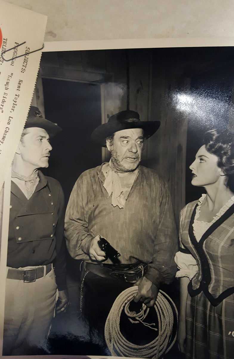 "ORIGINAL LON CHANEY JR. ""rough riders"" TV APPEARANCE PHOTO"