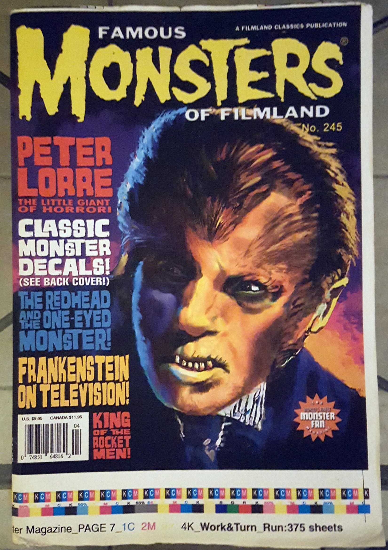 Famous Monsters of Filmland #245 Original Printers Proof