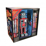 1950'S STYLE TIN WALKING ROBOT + 6 DVDs